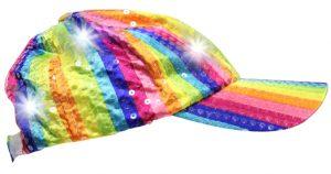 casquette arc-en-ciel à LED