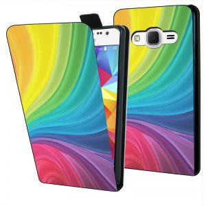 flipcase samsung galaxy core prime abstract-rainbow