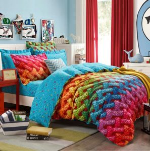 un arc en ciel sur votre lit rainbow blog. Black Bedroom Furniture Sets. Home Design Ideas