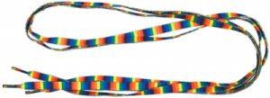 lacets multicolore arc-en-ciel rayures