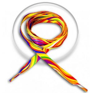 lacets multicolores psychedeliques