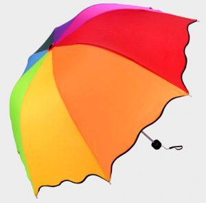 parapluie cloche tranches arc-en-ciel
