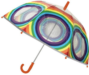 Parapluie cloche arc-en-ciel transparent