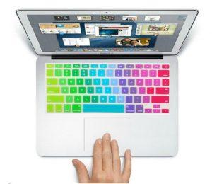 autocollant clavier arc-en-ciel-macbook