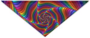 Bandana arc-en-ciel fractale
