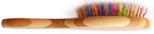 Brosse pour animal bambou arc-en-ciel