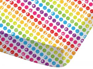 drap housse smiley rainbow