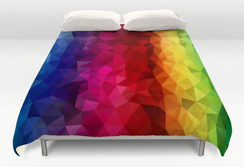 Un arc en ciel sur votre lit rainbow blog - Housse de couette motif geometrique ...