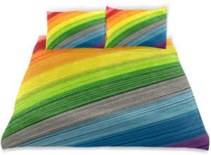 Parure de lit arc-en-ciel pour enfant