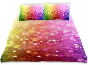 Parure de lit pour enfant arc-en-ciel