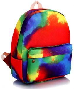 sac à dos aquarelle arc-en-ciel