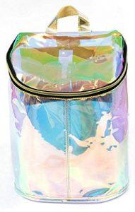 sac à dos transparent irisé arc-en-ciel
