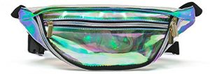 sac banane pvc irisé arc-en-ciel transparent