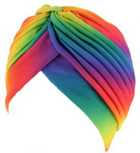 turban arc-en-ciel