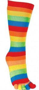 Chaussette orteils séparés coton arc-en-ciel