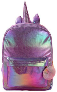 Sac à dos licorne violet irisé