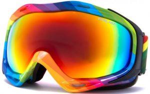 masque de ski arc-en-ciel