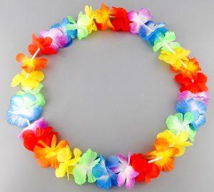 deguisement-collier-fleurs-hawaii-arc-en-ciel