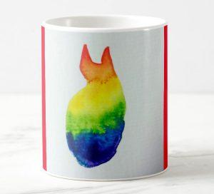 Mug chat arc-en-ciel