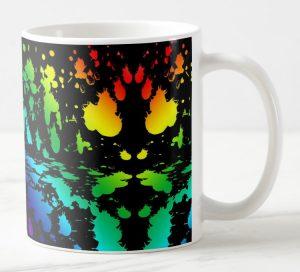 Mug a taches Rorschach s arc-en-ciel