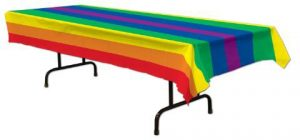 nappe de table arc-en-ciel