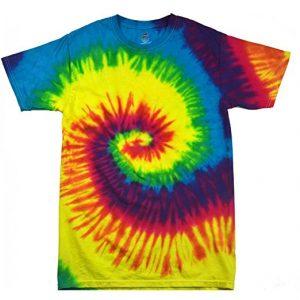 t-shirt arc-en-ciel spirale