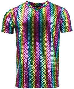 T-shirt brillant arc-en-ciel