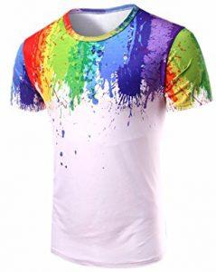 T-shirt homme arc-en-ciel