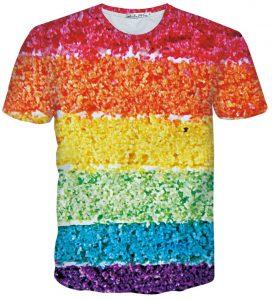 t-shirt imprime arc-en-ciel