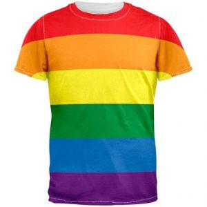 t-shirt rayures arc-en-ciel