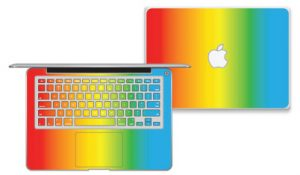 autocollant macbook arc-en-ciel-degrade