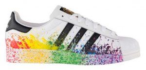 Adidas pride pack blanc arc-en-ciel