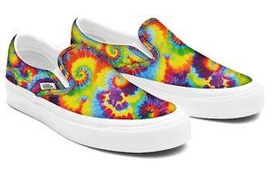 Vans rainbow tie'n'dye