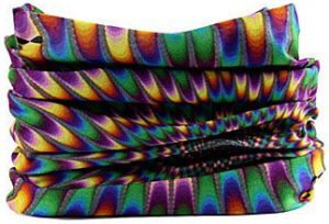 Bandana snood 3 en 1 arc-en-ciel hypnotique