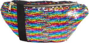 Sac banane arc-en-ciel paillettes Jaded London