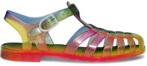 Sandale méduse arc-en-ciel