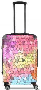 Valise mosaic arc-en-ciel