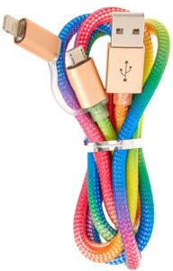 Câble USB arc-en-ciel