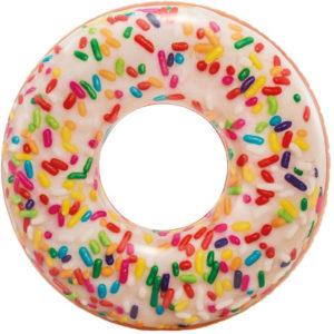 Bouée gonflable arc-en-ciel donut