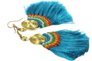 Boucles oreilles Bolivie arc-en-ciel