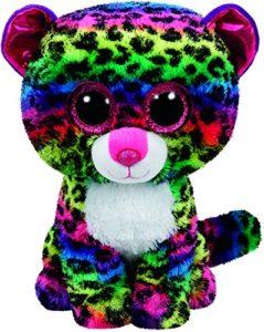 Dotty léopard peluche arc-en-ciel