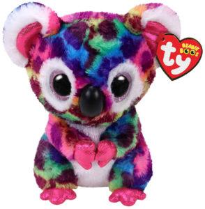 Scout koala peluche arc-en-ciel