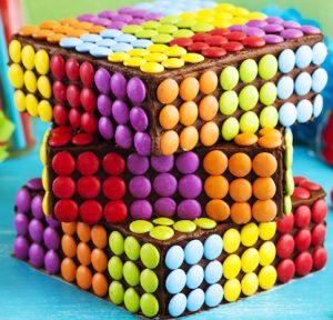Gâteau au chocolat Rubik's cube