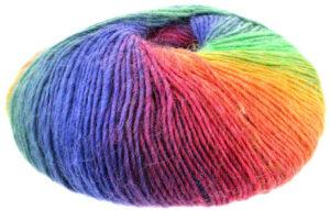 Pelote de laine arc-en-ciel