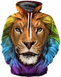 Sweat capuche lion