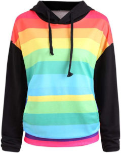 Sweat capuche arc-en-ciel