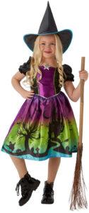 Costume de sorcière arc-en-ciel