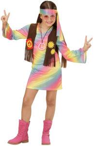 Déguisement hippie arc-en-ciel