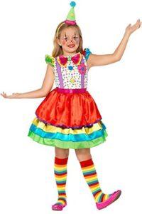 Déguisement de clown enfant arc-en-ciel