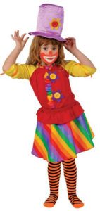 Costume clown enfant arc-en-ciel